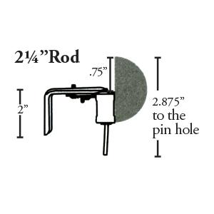 "Crowder Designs Traversing Rod   2 1/4"" Measurement"
