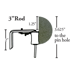 "Crowder Designs Traversing Rod | 3"" Rod Measurement"