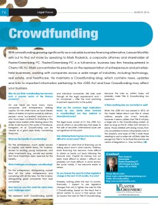 legal focus on crowdfunding