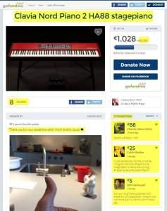Eeco Rijken Rapp Clavia Nord Piano 2 HA88 stagepiano