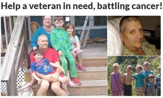 Help a veteran in need, battling cancer! ZumaFunder.com CrowdFunding Booster
