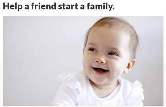 Help a friend start a family ZumaFunder.com GoFundMe Booster