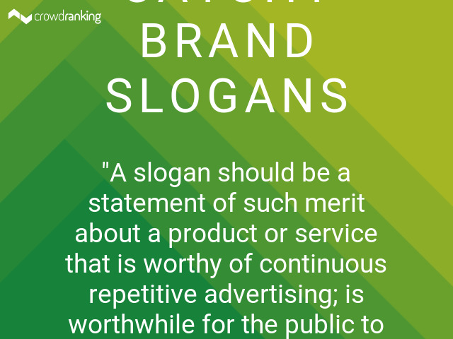 Current Advertising Slogans