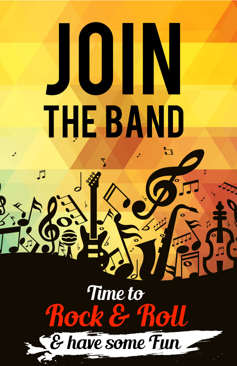 recruitment poster for school band