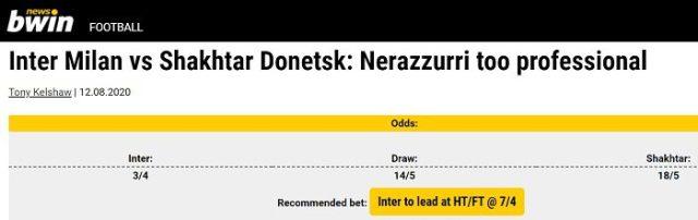 Inter Milan vs Shakhtar Donetsk Predictions and Betting Analysis 3