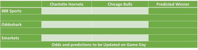 Charlotte Hornets vs Chicago Bulls NBA Odds and Predictions