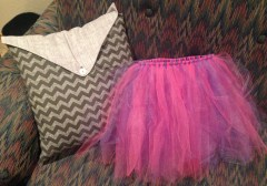 Finished tutu to be added to the diaper cake.