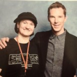 My good self, and the charming Benedict Cumberbatch.