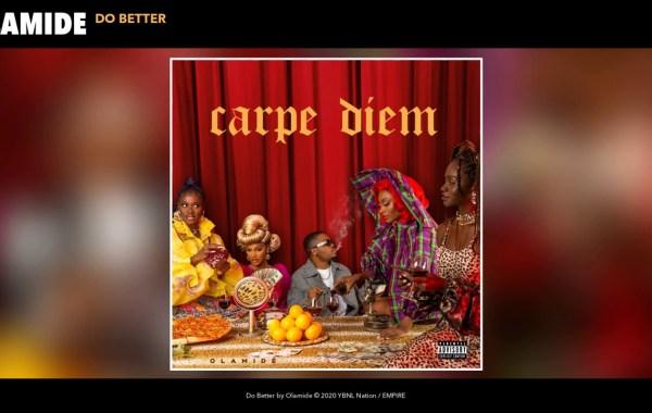 Olamide - Do better lyrics