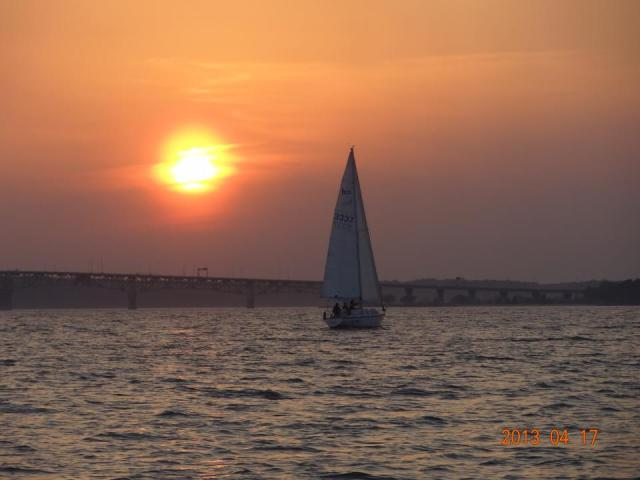 Evening Sail into Sunset on York River