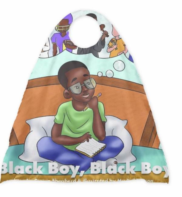 CrownTheWriter Store Black Boy Superhero Cape