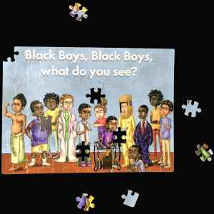 Black Boy, Black Boy – Back Cover – 80 piece Jigsaw puzzle