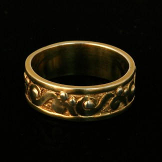 14k gold Water Ring Band