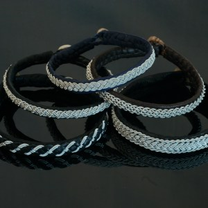 Pewter Thread Bracelets
