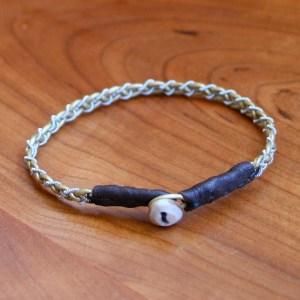 Mini Pewter Thread Bracelet brown