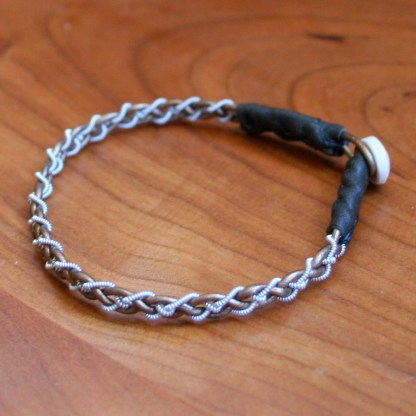Mini Pewter Thread Bracelet green