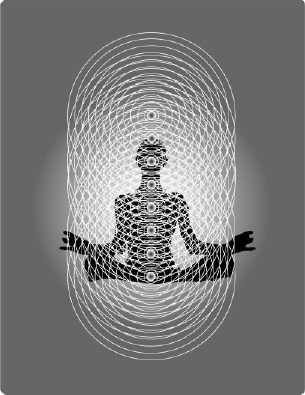 The Human Bioenergy Blueprint. From the perspective of quantum biology, the human body is a hologram composed of intersecting lines of bioenergy. The above figure shows how the vertical, light-processing chakras interface with the horizontal, sound-generated electromagnetic fields to create the geometric matrix necessary for physical manifestation.