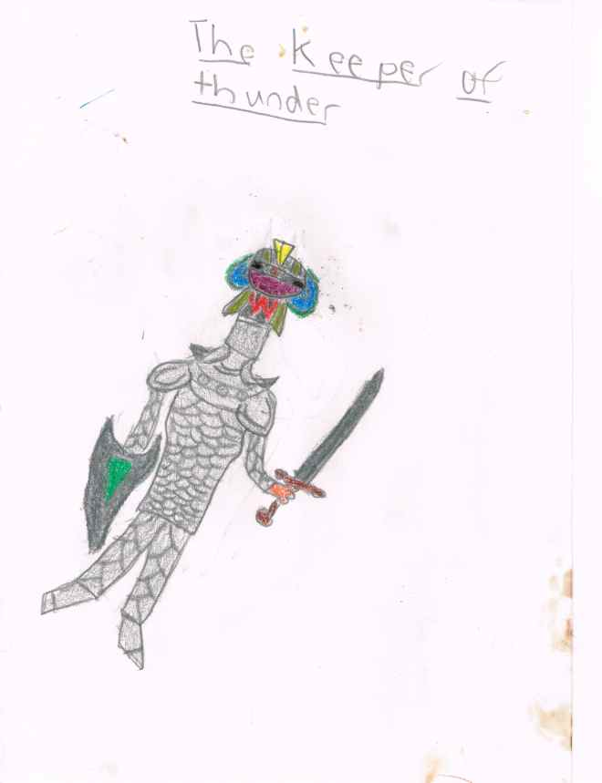 knight warrior famous blogger drawing