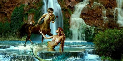 Centaur mermaid love