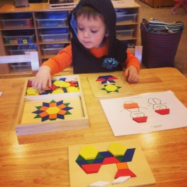 D using pattern blocks and pattern block boards