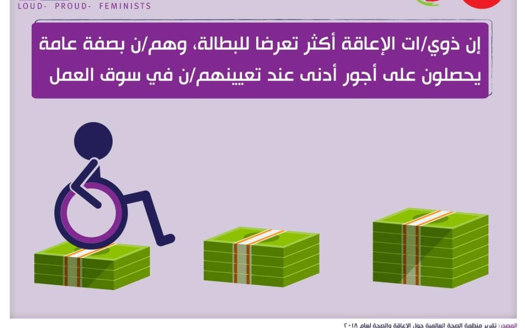 ذوي/ات الإعاقة أكثر تعرضًا للبطالة