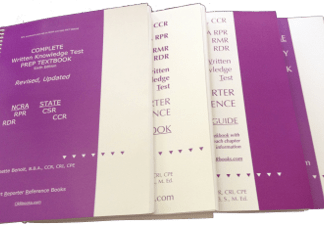 Purple Books 7th edition Textbook for NCRA's RPR, RDR, State CSR