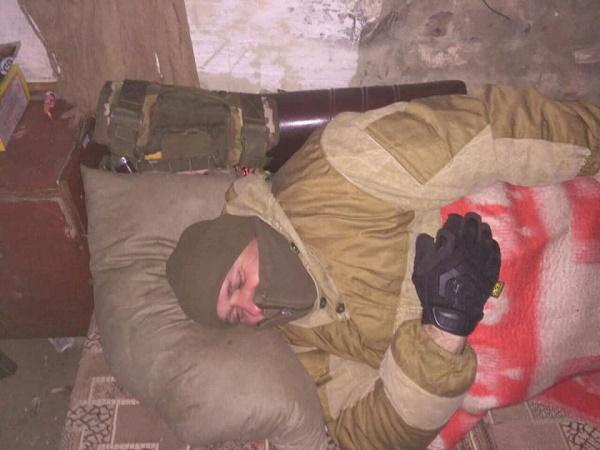 Капелан ХСП Борис Пушкель у розташуванні наших воїнів