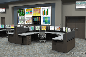 Electric transmission and distribution control room
