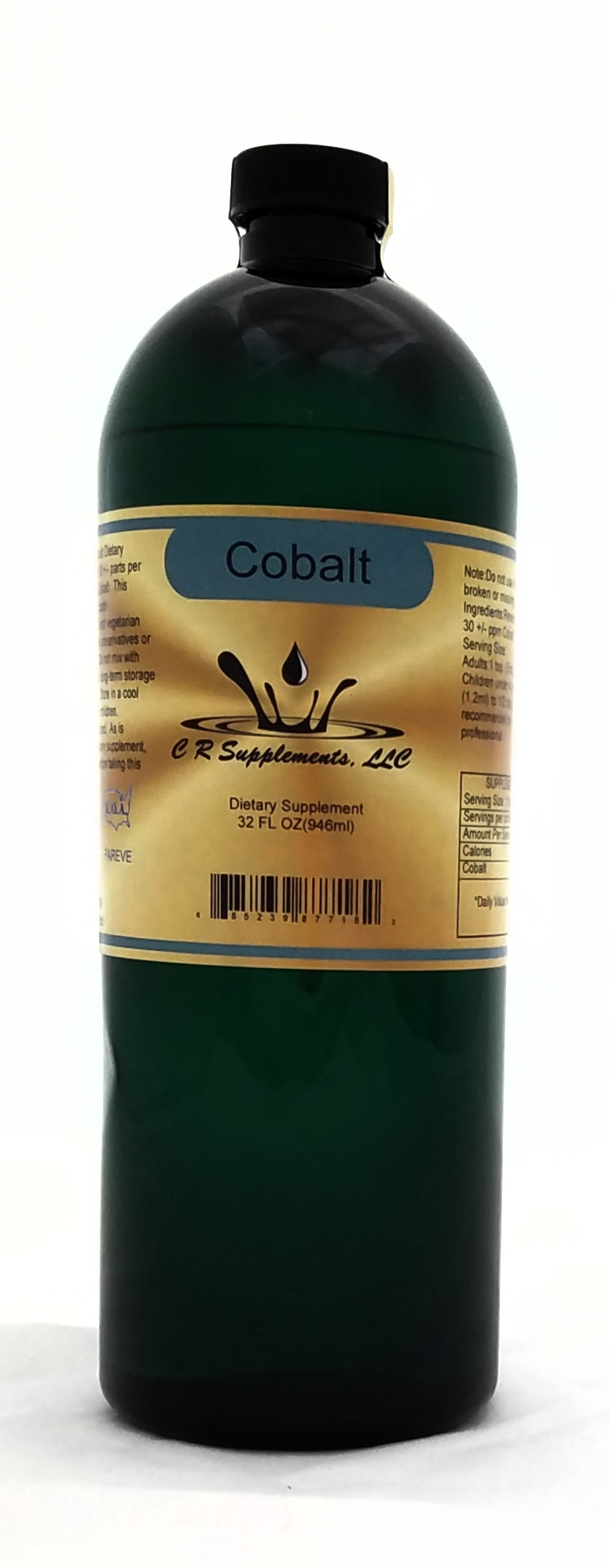 Cobalt ionic mineral water Quart