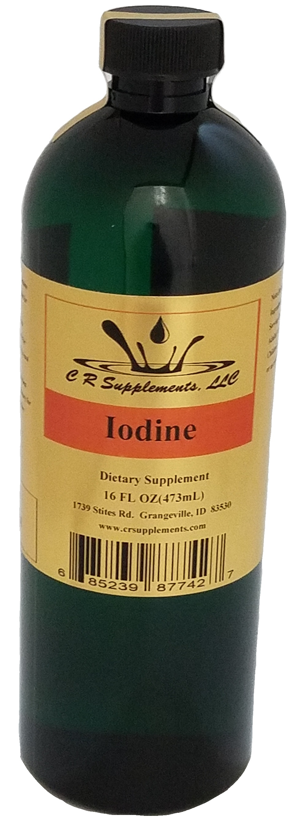 Iodine Dietary Supplement, Iodine, WaterOz Iodine Replacement, Liquid dietary supplement, Kosher of America approved, KOA approved, Pareve, vegan application, elemental mineral, flexible liquid mineral, maximum absorption