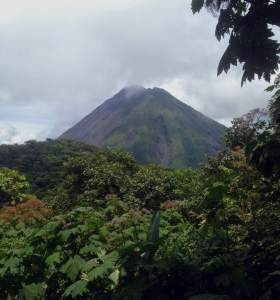 View of Arenal from atop Cerro Chato