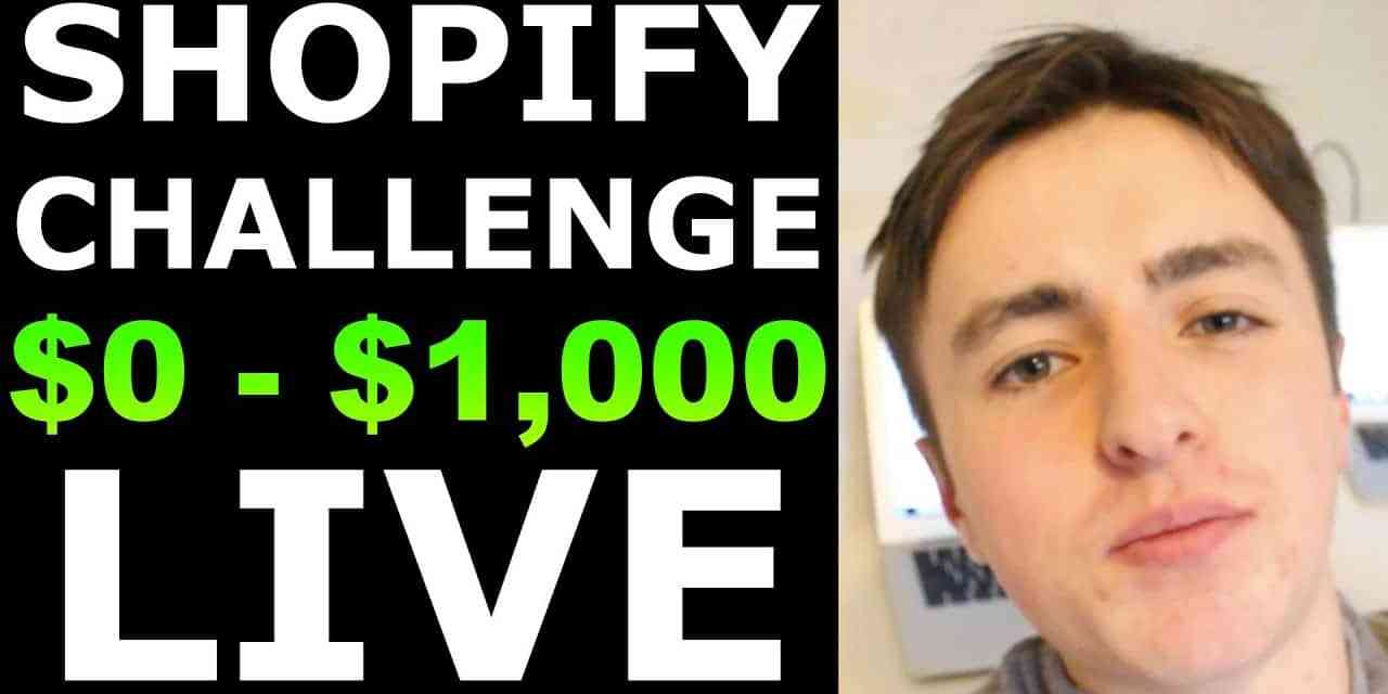 (Day 1) SHOPIFY CHALLENGE: NEW STORE FROM $0 TO $1,000 IN 7 DAYS   SHOPIFY CASE STUDY