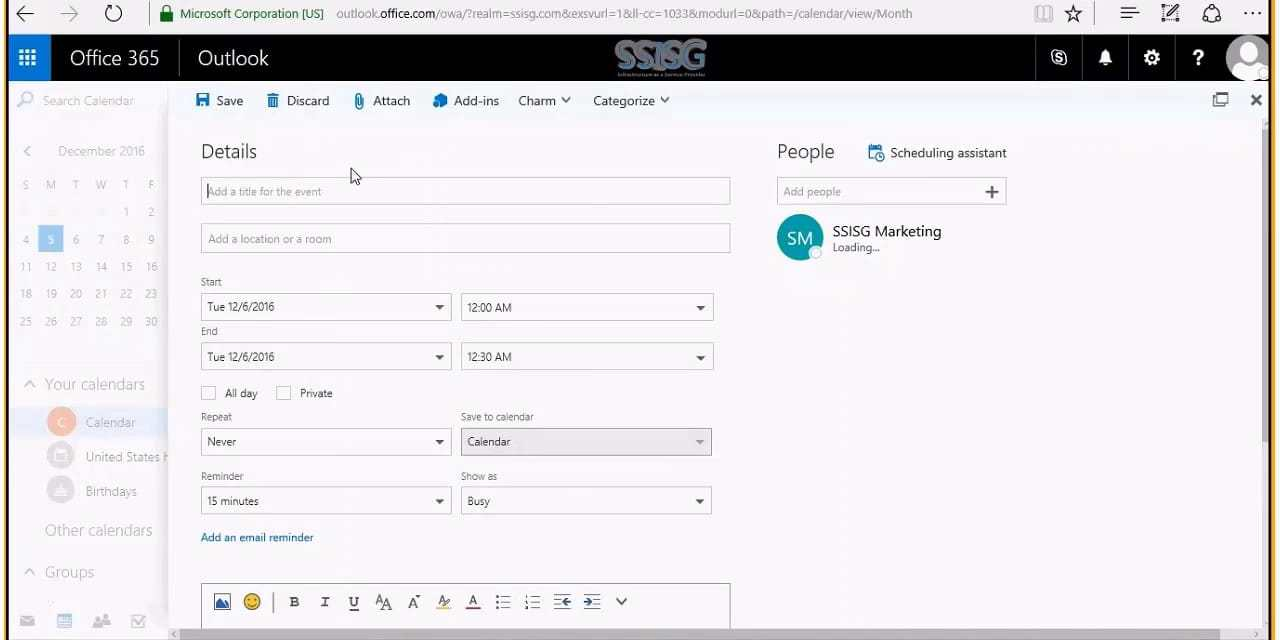 Office 365 Business Premium and Essentials Online Demonstration presented by SSISG