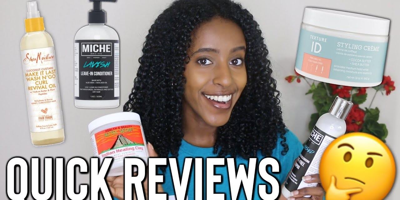 QUICK Natural Hair Product Reviews | Texture ID Styling Creme, Aztec Clay Mask…AND MORE!