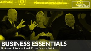 business of architecture UK live event