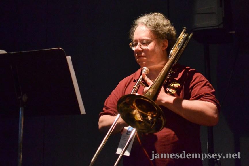 Mark Dalrymple playing trombone