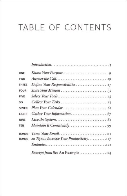 Table of Contents - Do More Better - Student Edition