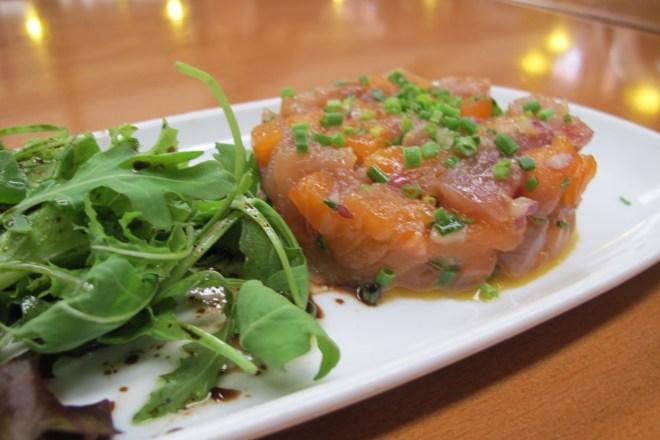 Tártaro misto, tartaro de salmão, salmão, salmão fresco, peixe