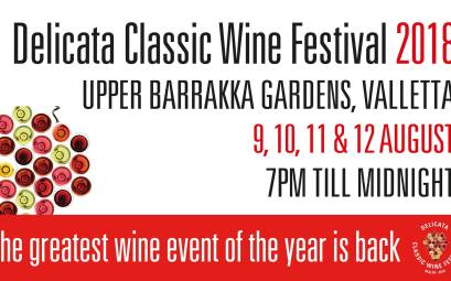 Delicata Classic Wine Festival 2018 at Upper Barrakka Gardens, Valletta