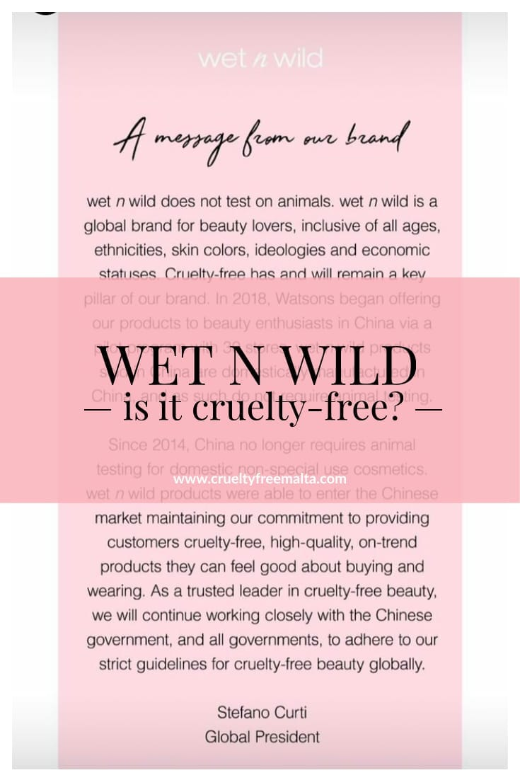Is Wet n Wild cruelty-free?