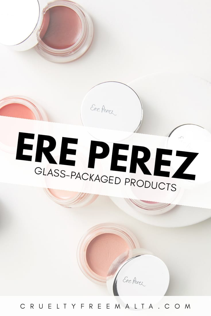 Ere Perez glass-packaged beauty products