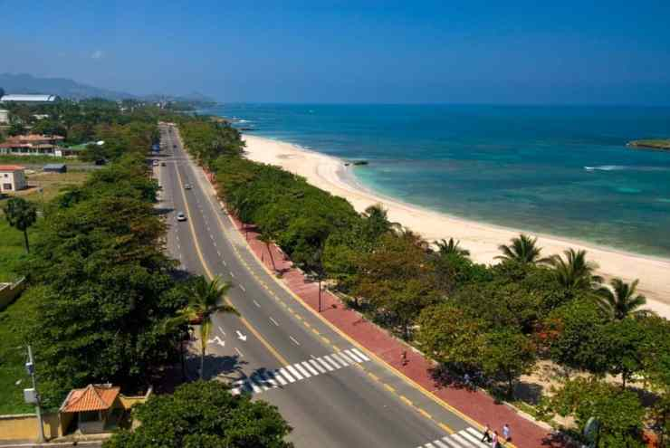 Looking along the Malecon, Puerto Plata