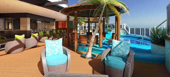 The Expanded LANAI on Deck 5 aboard Carnival Vista
