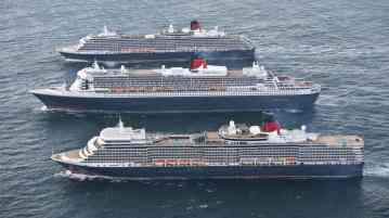 Cunard's Three Queens Celebrate