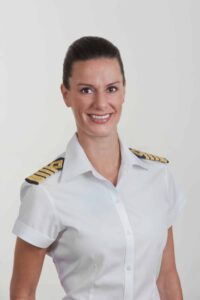 Celebrity Cruises named Kate McCue as the cruise industry's first American female captain (PRNewsFoto/Celebrity Cruises)