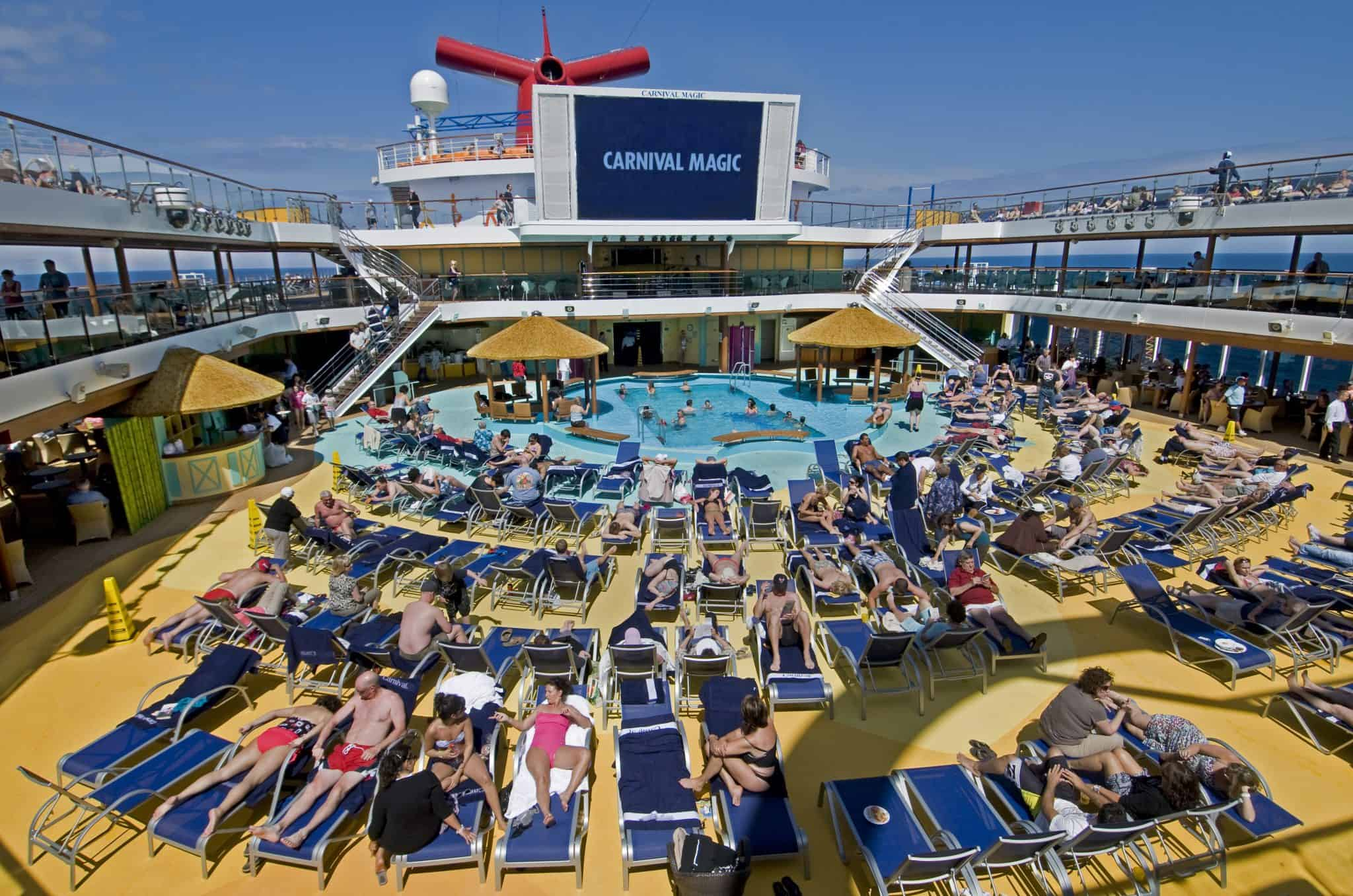 Carnival cruise line moving the lines newest and biggest for Pool trade show magic