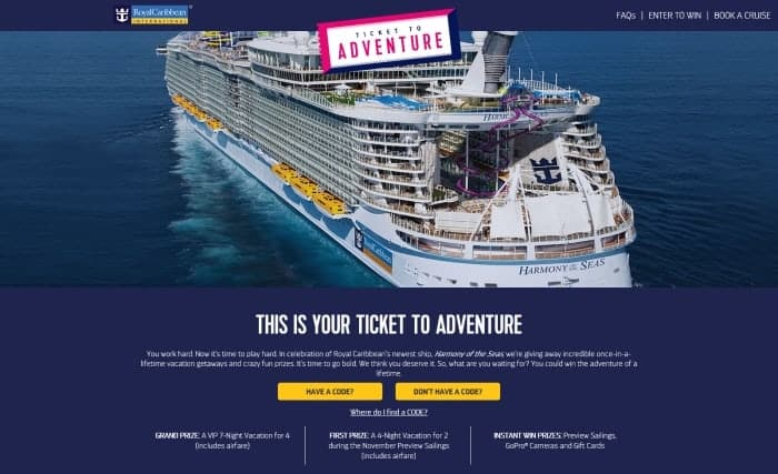 Royal Caribbean Kicks Off Quot Ticket To Adventure