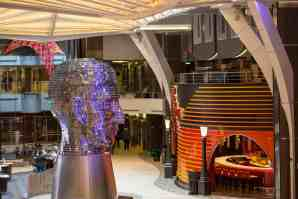 "Royal Caribbean International's Harmony of the Seas, the world""s largest and newest cruise ship, previews in Southampton. Royal Promenade"