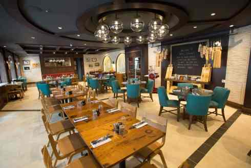 Royal Caribbean International's Harmony of the Seas, the world's largest and newest cruise ship, previews in Southampton, UK. Jamie's Italian in Central Park.