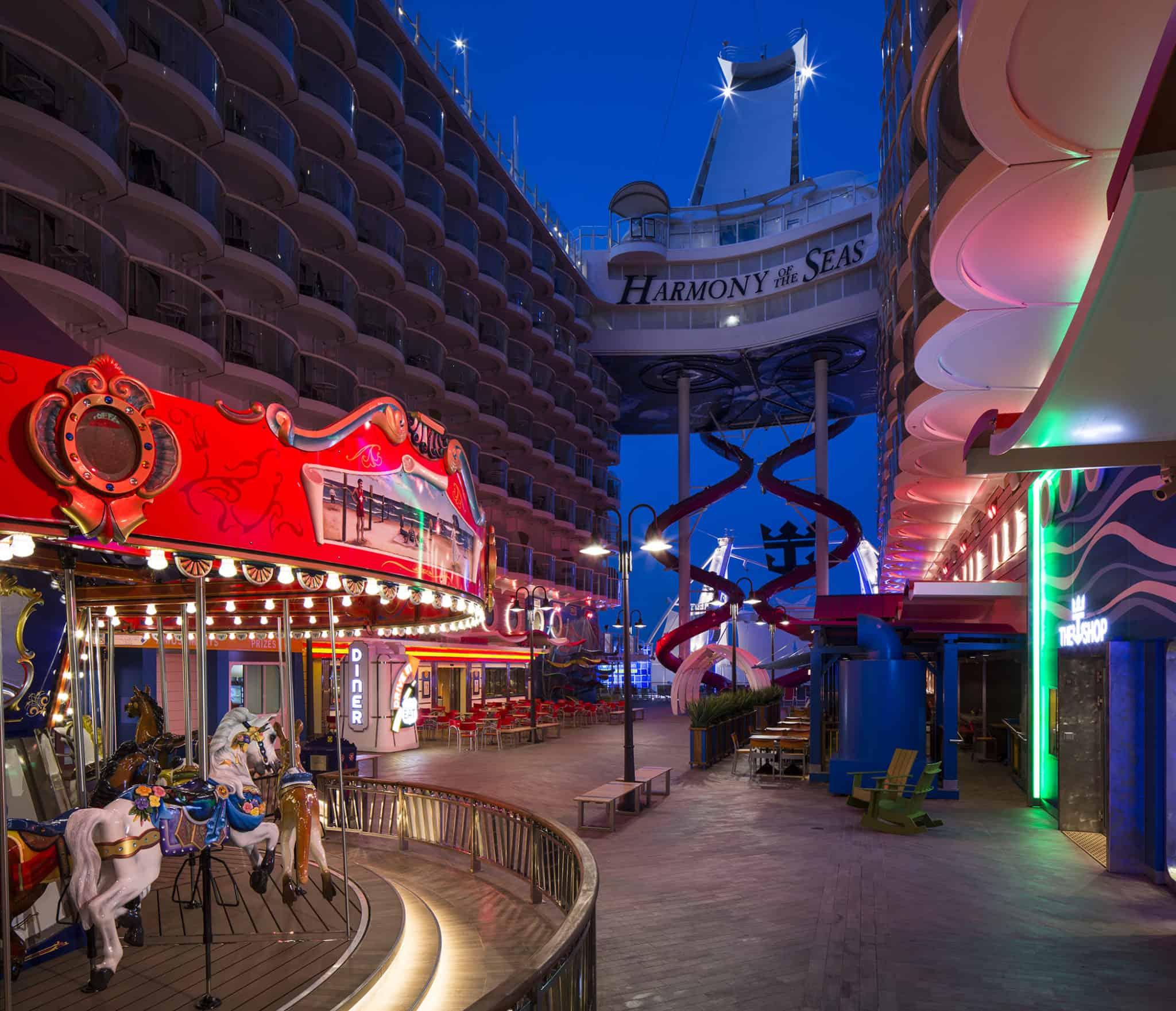 The Boardwalk - Deck 6 Aft Harmony of the Seas - Royal Caribbean Inetrnational